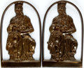 """Books:Furniture & Accessories, [Bookends]. Matching Pair of Bookends Depicting Moses Holding theTen Commandments, with Bronze Finish. Stamped """"Israel"""". Li..."""