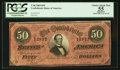 Confederate Notes:1864 Issues, Dark Red T66 $50 1864.. ...