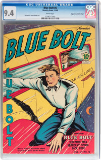 Blue Bolt #6 Mile High pedigree (Novelty Press, 1940) CGC NM 9.4 White pages