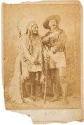 "Photography:Cabinet Photos, William F. ""Buffalo Bill"" Cody and Sitting Bull: Cabinet Card andNewspapers.... (Total: 3 Items)"