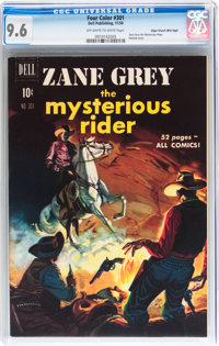 Four Color #301 Zane Grey the Mysterious Rider - Mile High pedigree (Dell, 1950) CGC NM+ 9.6 Off-white to white pages...