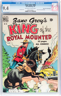 Four Color #265 King of the Royal Mounted - Mile High pedigree (Dell, 1950) CGC NM 9.4 Off-white to white pages
