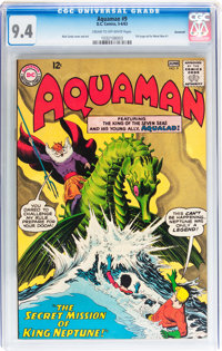 Aquaman #9 Savannah Pedigree (DC, 1963) CGC NM 9.4 Cream to off-white pages
