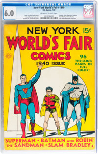 New York World's Fair Comics 1940 (DC, 1940) CGC FN 6.0 Off-white to white pages