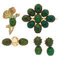 Estate Jewelry:Lots, Antique Beetle, Beryl, Gilt Metal Jewelry. ...