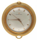 Timepieces:Pocket (post 1900), Eterna-Matic Rare 14k Gold Cased Salesman's Automatic Pocket Watch....