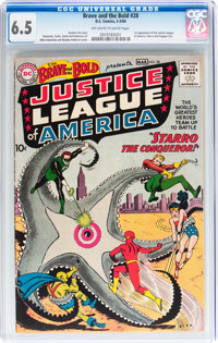 The Brave and the Bold #28 Justice League of America (DC, 1960) CGC FN+ 6.5 Off-white to white pages