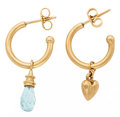 Estate Jewelry:Earrings, Aquamarine, Gold Earrings. ...