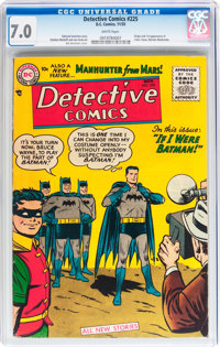 Detective Comics #225 (DC, 1955) CGC FN/VF 7.0 White pages
