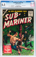 Golden Age (1938-1955):Superhero, Sub-Mariner Comics #39 (Timely, 1955) CGC FN+ 6.5 Cream to off-white pages....