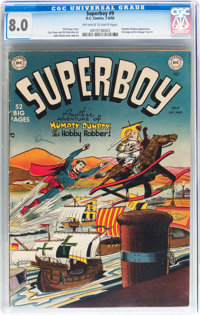 Superboy #9 (DC, 1950) CGC VF 8.0 Off-white to white pages