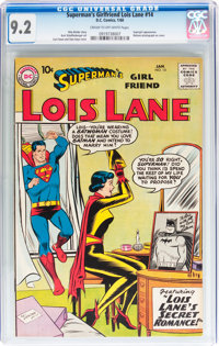 Superman's Girlfriend Lois Lane #14 (DC, 1960) CGC NM- 9.2 Cream to off-white pages