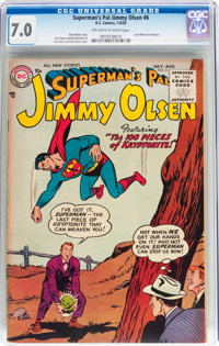 Superman's Pal Jimmy Olsen #6 (DC, 1955) CGC FN/VF 7.0 Off-white to white pages