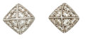 Estate Jewelry:Earrings, Diamond, White Gold Earrings, Stephen Dweck. ...