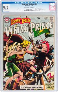 The Brave and the Bold #23 Viking Prince (DC, 1959) CGC NM- 9.2 Off-white to white pages