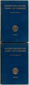 Books:Natural History Books & Prints, George Shiras, III. Hunting Wildlife with Camera and Flashlight. Washington, D.C.: National Geographic Society, [193... (Total: 2 Items)