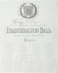 Political:Inaugural (1789-present), Ulysses S. Grant: 1873 Inauguration Ball Invitation andProgramme.... (Total: 2 )