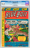 Golden Age (1938-1955):Adventure, Blue Bolt #102 Mile High pedigree (Star Publications, 1949) CGC NM- 9.2 Off-white to white pages....