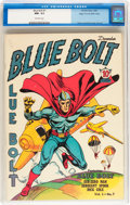 Golden Age (1938-1955):Superhero, Blue Bolt #7 Mile High pedigree (Novelty Press, 1940) CGC NM- 9.2 Off-white pages....