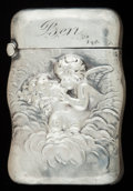 Silver Smalls:Match Safes, AN AMERICAN SILVER MATCH SAFE, Unger Bros., Newark, New Jersey,circa 1900. Marks: UB (conjoined), STERLING, 925FINE...