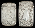Silver Smalls:Match Safes, TWO AMERICAN SILVER MATCH SAFES, Gorham Manufacturing Co.,Providence, Rhode Island, circa 1909. Marks: (lion-anchor-G),S... (Total: 2 Items)