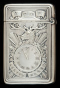 Silver Smalls:Match Safes, AN AMERICAN SILVER MATCH SAFE, Gorham Manufacturing Co.,Providence, Rhode Island, circa 1913. Marks: (lion-anchor-G),STE...