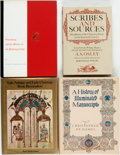 Books:Books about Books, [Books about Books]. Group of Four Books about Early Printing and Illuminated Manuscripts. Various publishers and dates. Ori... (Total: 4 Items)
