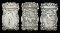 Silver Smalls:Match Safes, THREE AMERICAN SILVER MATCH SAFES, circa 1900. Marks: STERLING,925/1000. 2-3/4 inches high (7.0 cm). 2.18 troy ounces. ...(Total: 3 Items)