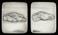 Silver Smalls:Match Safes, TWO AMERICAN SILVER AND SILVER GILT MATCH SAFES, circa 1900. Marks:STERLING (F); (sickle). 2-1/4 inches high (5.7 cm). ...(Total: 2 Items)