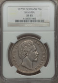 German States:Bavaria, German States: Bavaria. Ludwig II 5 Mark 1876-D XF45 NGC,...