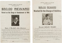 Two Wanted Posters
