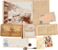 Western Expansion:Goldrush, Deadwood, Dakota Territory: Assorted Ephemera.. ... (Total: 9Items)