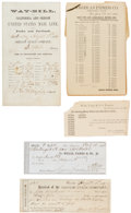 Miscellaneous:Ephemera, An Interesting Stage Coach Archive.... (Total: 5 Items)
