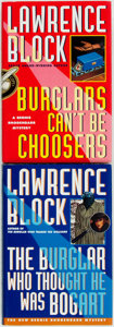 Books:Mystery & Detective Fiction, Lawrence Block. SIGNED. Burglars Can't Be Choosers [and:]The Burglar Who Thought He Was a Bogart. New York:...(Total: 2 Items)