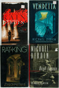 Books:Mystery & Detective Fiction, Michael Dibdin. Group of Three First Editions and an Advance ReviewCopy. Various publishers and dates. Review copy has publ... (Total:4 Items)
