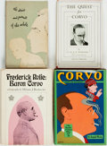 Books:Biography & Memoir, [Frederick William Rolfe (Baron Corvo)]. Group of Four First Editions about Baron Corvo. Various publishers and dates. Inclu... (Total: 4 Items)