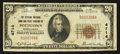 National Bank Notes:Pennsylvania, Pottstown, PA - $20 1929 Ty. 1 The Citizens NB & TC Ch. # 4714. ...