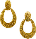 Estate Jewelry:Earrings, GOLD EARRINGS...