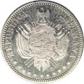 Bolivia: , Bolivia: Republic Silver Pattern Boliviano 1868-CT, KM-Pn26, reeded edge, Proof 63 NGC, mirror surfaces with minimal handling in the ...