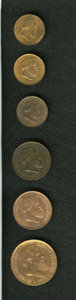 Brazil: , Brazil: Pedro II Bronze Assortment, KM473 10 Reis, three dates,1868, lustrous UNC, 1869, UNC with a tiny contact mark on the busta... (Total: 6 coins Item)