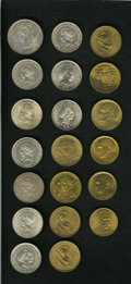 Brazil: , Brazil: Republic Assortment of 1000 Reis, twenty coins, all UNCunless noted otherwise, KM495 1889, toned AU, KM507 1906, 1907,1908... (Total: 20 coins Item)