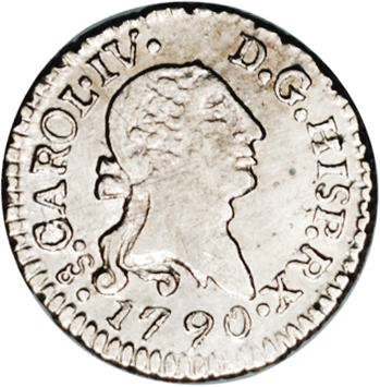 Chile Carlos Iv 1 4 Real 1790 So Km43 Ms63 Ngc Bold Details And Lot 16403 Heritage Auctions