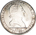 Chile: , Chile: Carlos IV Proclamation 12 Reales 1789, Fonrobert 9805, MS63NGC, a choice example of this silver proclamation medal featurin...