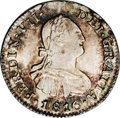 Chile: , Chile: Ferdinand VII 1/2 Real 1816FJ-So, KM64, MS65 NGC, another gorgeous example with deep, attractive patina over fully lustrous ...