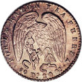 Chile: , Chile: Republic 1/2 Real 1845-IJ, KM98.2, MS65 NGC, an originalcoin with lovely light toning and full mint brilliance. Thereverse...