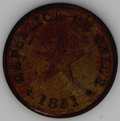 Chile: , Chile: Republic Medio (1/2) Centavo Type Trio, KM114 1835, thickplanchet, nice brown XF, and KM117 1851, stars at date, choiceglo... (Total: 3 coins Item)