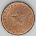 Chile: , Chile: Republic Centavo 1835, KM115, choice lustrous AU-UNC, theoriginal copper emission with value of 1/8 Real, coin axis, thick...