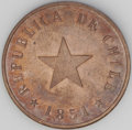 Chile: , Chile: Republic Centavo 1851-H Flat Star, KM119.2, choice SpecimenProof from the Heaton Mint Archives Collection, reflective surfa...