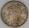 Chile: , Chile: Republic 2 Centavos 1873, KM147, choice brilliant UNC, very elusive type in this quality....