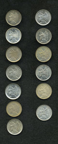 Chile: , Chile: Republic Copper-Nickel 5 Centavos Date Collection, thirteendates, all UNC, several unusually choice: 1920, 1921, 1922, 1923...(Total: 13 coins Item)